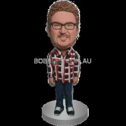 Personalised Casual Man Bobblehead