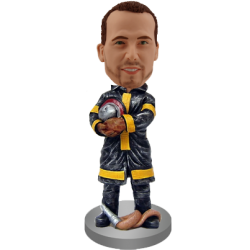 Personalized Fireman Bobble