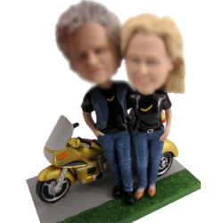 Bobbleheads With Motorcycle