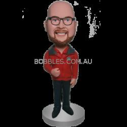 Red Jacket Buddy Custom Bobble