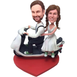 Scooter Couple Wedding Bobbleheads