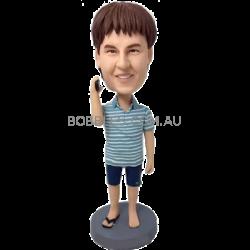 Single Flip Flop Custom Bobble Head