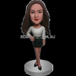 Stylish Girl Custom Bobble