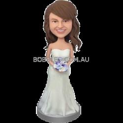 White Dress Bridesmaid Bobblehead