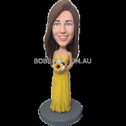 Yellow Dress Bidesmaid Bobblehead