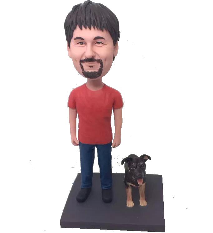 Man and Dog Bobblehead