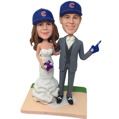 Baseball Fans Wedding Bobbleheads