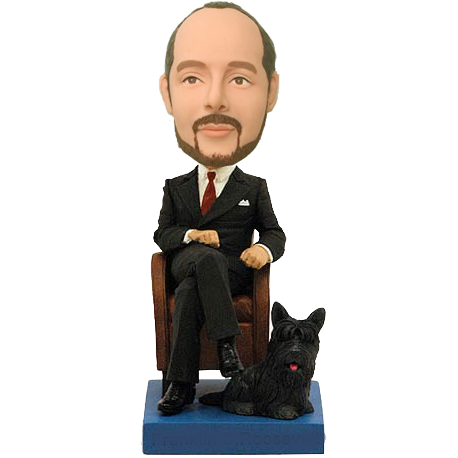 Boss with Dog Custom Bobble