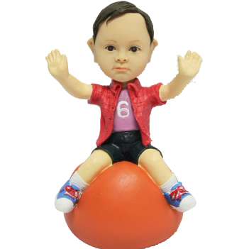 Boy on Bouncing Ball Custom Bobblehead