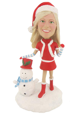 Christmas Girl Bobblehead