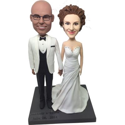 Classic Wedding Cake Topper Bobbleheads