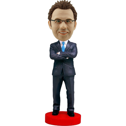 Confident Business Man Bobble