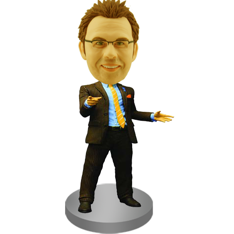 Confident Man Bobble Head