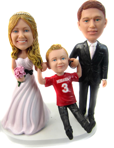 Couple and Kid Cake Topper