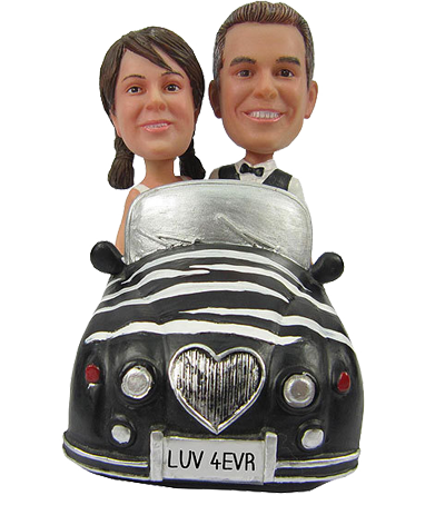 Couple in Car Cake Topper