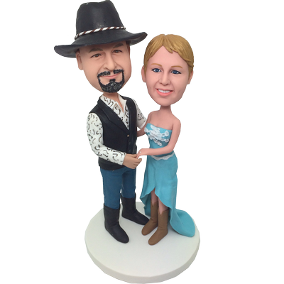 Cowboy Wedding Bobble Heads
