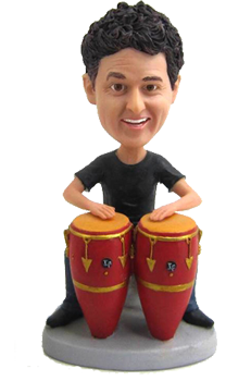 Custom Bobblehead Conga Drums Player