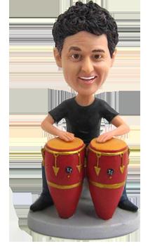 Custom Bobblehead Conga Drums Player