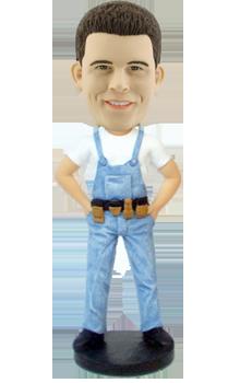 Custom Bobblehead Construction Worker