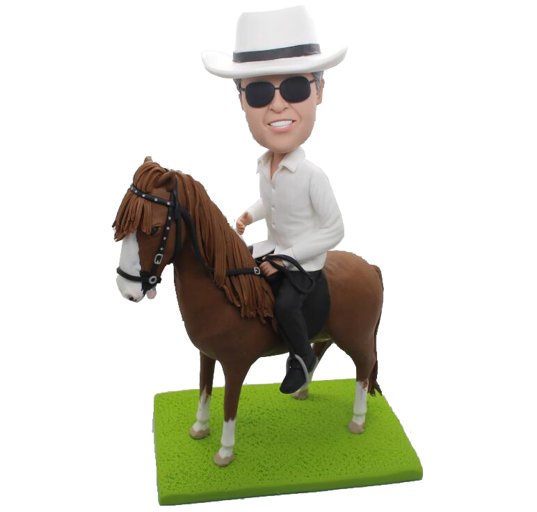 Man on Horse Custom Bobblehead