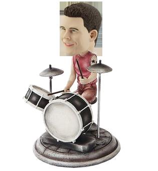 Custom Rock Drummer Bobblehead