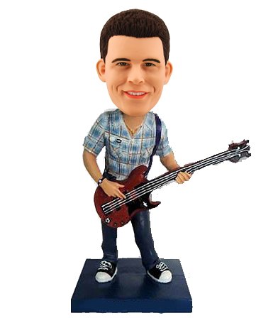 Custom Rock Guitarist Bobblehead