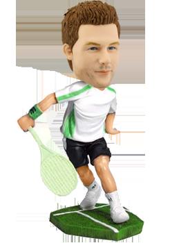 Custom tennis bobble head