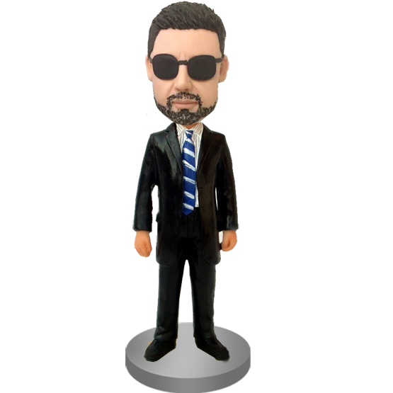 Customised Bobblehead Trademan In Suit