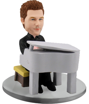 Customized Bobblehead Man Pianist