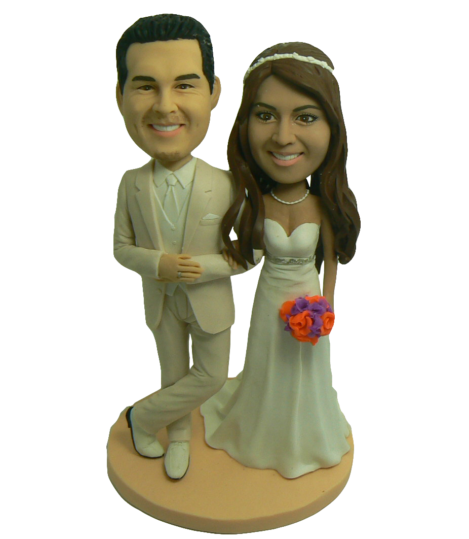Elegant Couple Cake Topper