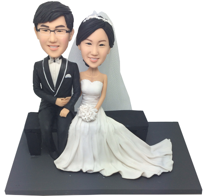 Elegant Wedding Bobbleheads