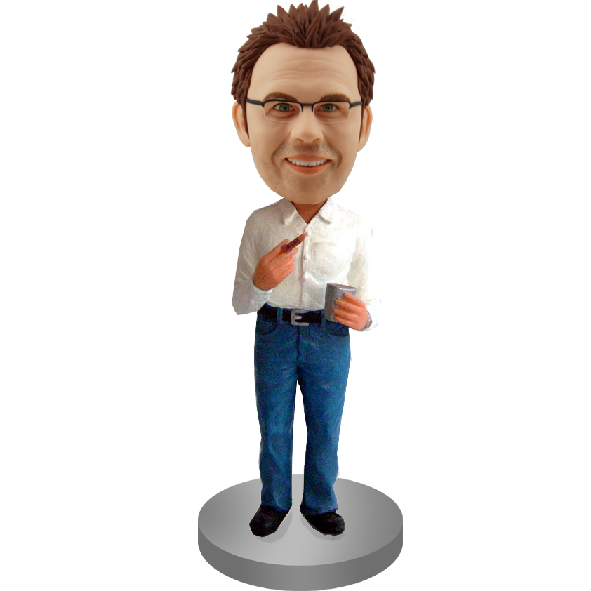 Executive With Ciga Bobblehead