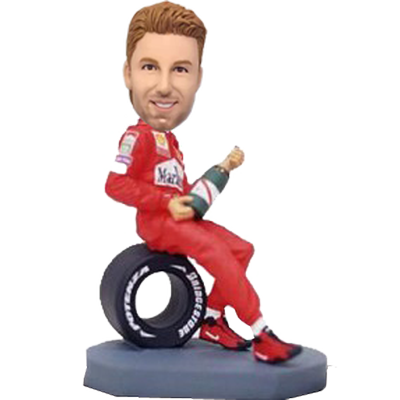 F1 Racer with Champagne Bobblehead