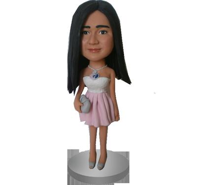 Fashion Young Girl Custom Bobble