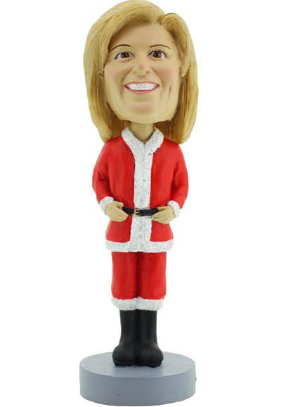 Female Christmas Custom Bobble