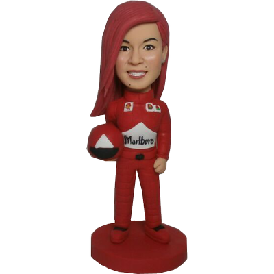 Female F1 Racer Bobble Head