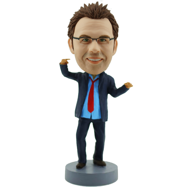 Funny  Business Man Bobblehead
