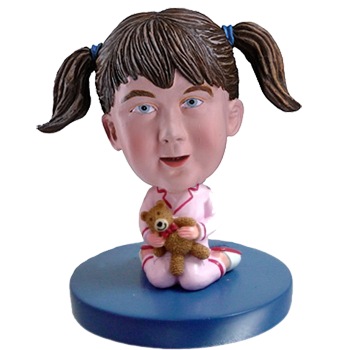 Girl and Bear Custom Bobblehead
