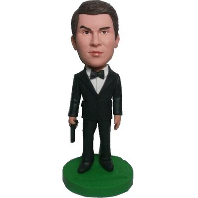 James Bond Style Bobblehead