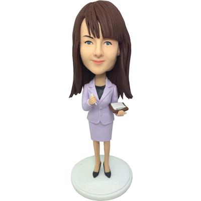Light Purple Suit Office Lady