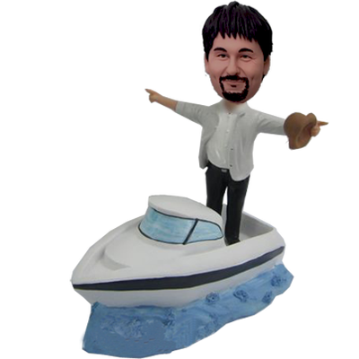Personalized Custom Speedboat Bobbleheads