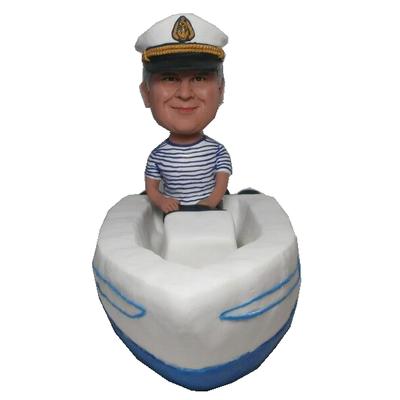 Man In Boat Custom Bobblehead