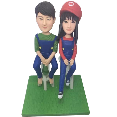 Mario Style Couple Bobbleheads