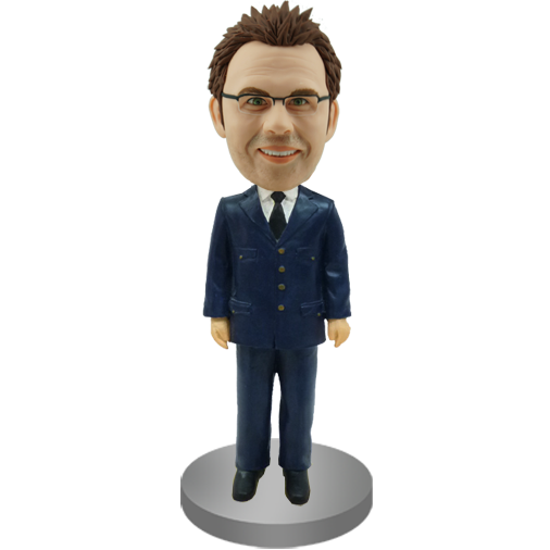 Personalised Bobble Head Airline Pilot