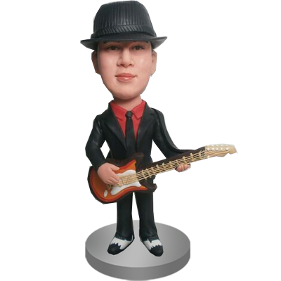 Personalised Guitar Buddy Bobble Head