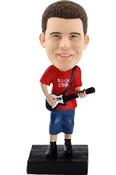 Personalized Bobble Head Guitar Player