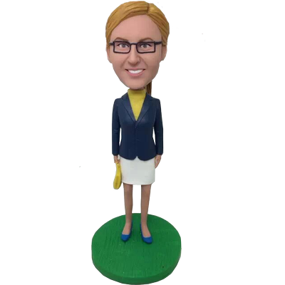 Personalized Skirt Suit Girl Bobblehead