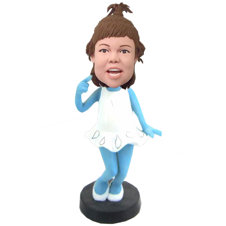 Smurfette Girl Custom Bobblehead