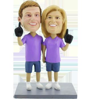 Sport Fans Couple Cake Topper