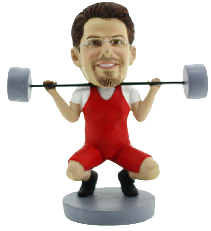 Custom Weightlifter Bobblehead
